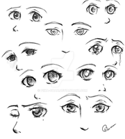 Eye Practice 1 by Piika-chan