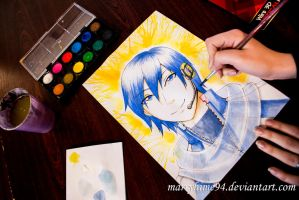 Kaito watercolors by Marryhime94