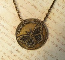 Fleeting Moments Antiqued Brass Necklace by FusedElegance