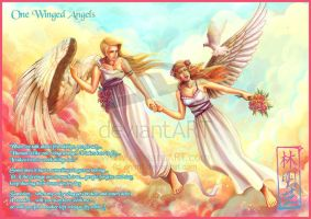 FOR SALE! One winged angels by art-adoption