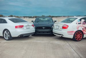 Audi S5 A4 and Mustang by KBLNoodles