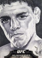 Nick Diaz Topps sketch card by therealbradu