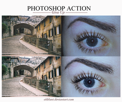 Photoshop Action Give Up by OhBlunt