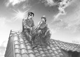 Rooftop Breakfast by GaiasAngel
