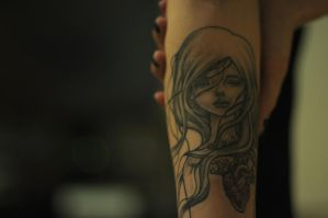Audrey Kawasaki Tattoo by Skellevision