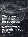 rules for success. by monographic