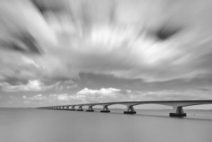 Zeeland Bridge 2 - Netherlands by JacktheFlipper-de