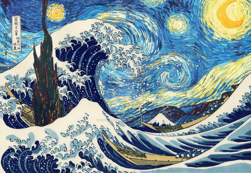 The Great Starry Wave Of Kanagawa by csquaredisrippn