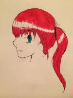 Red Haired Girl by BlazetheDemon99
