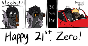 Zero's 21st B-Day by BlazeDGO