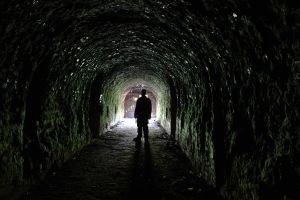 Man in the tunel by photogosiek