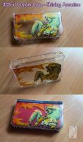 3DS xl Custom Case - Shining Arcanine by UmbreoNoctie