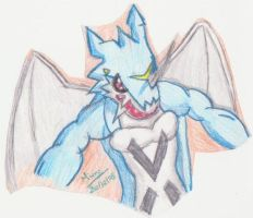 Upper body of ExVeemon by Kitamon