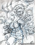 Jessica - The Thing blue pencils by gb2k