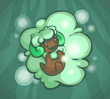 Day 12: Grass - Whimsicott by avroillusion