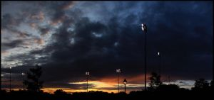 Sunset over a Baseball Field by sicmentale