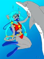 Aarie and the Dolphin v2.1 by GlimmeringDepths
