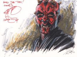 Darth Maul signed by Ray Park by tdastick