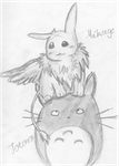 Mikage n Totoro :3 by deathnoteforeverxx