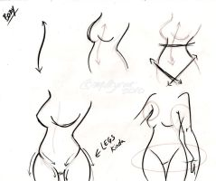 Body Sketch Tutorial by Milkycat