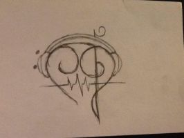 Clef Heart Tattoo by twilightluver10044
