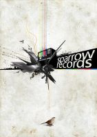 Sparrow Records Poster by daveycoleman