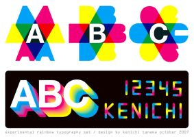 cmyk typo experiment by Kenichi-Japan