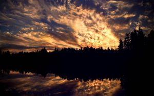 Sunset Over Blair Lake by TheSeeker417