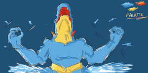 Feraligatr...Pissed by SaucyLobster