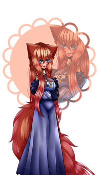 [MY OC]Angeline The Angel Wolf by AxelxLove