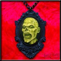 ZOMBIE Cameo Necklace HEAD by Horribell-Originals