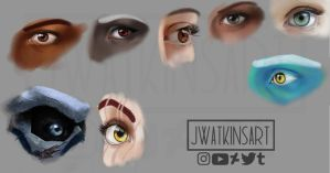 Eye Studies by JWatkinsArt