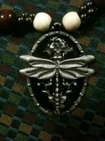 Dragonfly necklace, detailed close up by Anocken