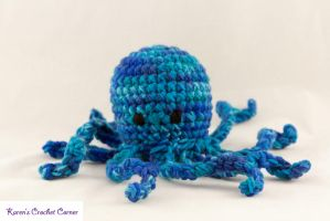 Octopus Rattle Commission by karenscrochetcorner