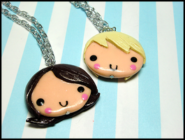 Happy Couple Necklace Set by GrandmaThunderpants
