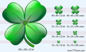 Four-leafed clover Icon by medical-icon-set