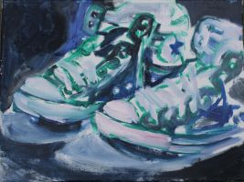 blue/ green converse by Timdockrill