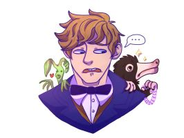 Newt Scamander by FiddleStixxx