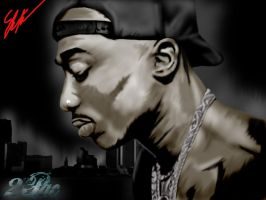 2PAC by IAMARTIST1987