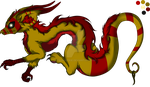 OPEN red/gold Lokidragon character adoptable by JanaCookie
