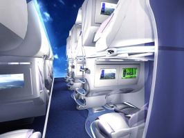 New seat beds for aircraft by Vectorinox