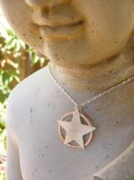 Silver and Copper Pentacle by MoonLitCreations