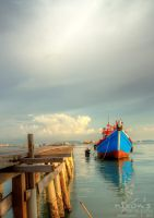 Sunset of Tan Jetty, Penang - Boat by fighteden