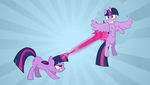 Twilight Sparkle vs. Twilight Sparkle by cartoonfanboyone