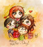 For My Awesome Mom And Awesome Bros by IChiTa--WiYa