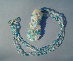 Winter River Beaded  Pendant by tyshalae