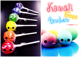 Kawaii Faces Brushes - ABR file by KeinHase