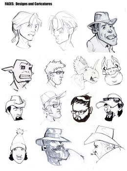 BFA App Sketch Page 3: Faces by greeni-studio