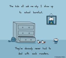 Sock Monsters by sebreg