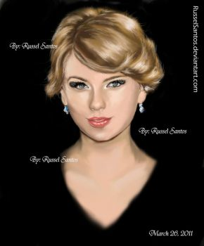 taylor swift-my1st digital art by RusselSantos